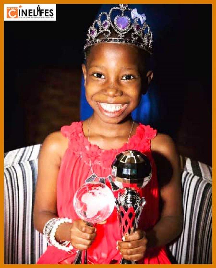 """Nollywood :  Emmanuella remporte le titre de """" star africaine préférée des médias sociaux """" aux Kids Choice Awards 2021 de Nickelodeon."""